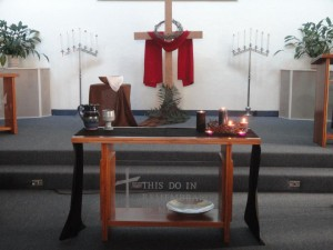 Alter in the sanctuary at Church of the Master